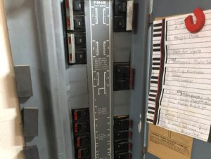 A picture of an obsolete Federal Pacific electrical panel.