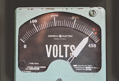 Antique Voltage Meter